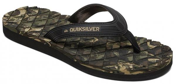 žabky Quiksilver Massage 2 - XKGK/Black/Green/Black 42