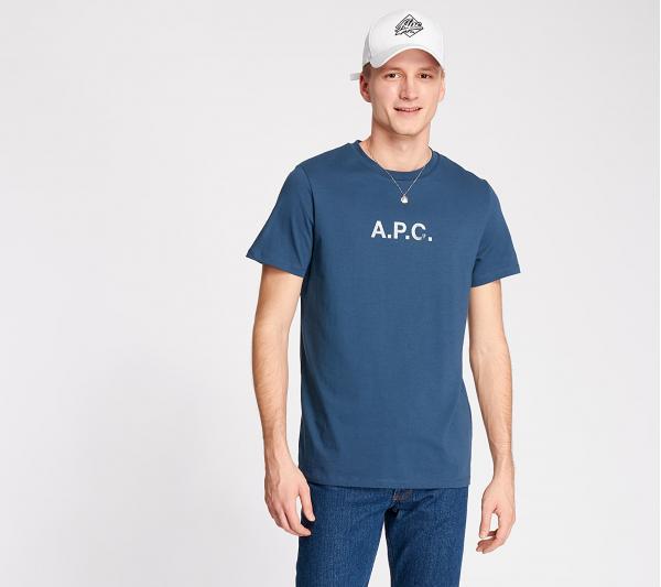 A.P.C. Stamp Tee Blue