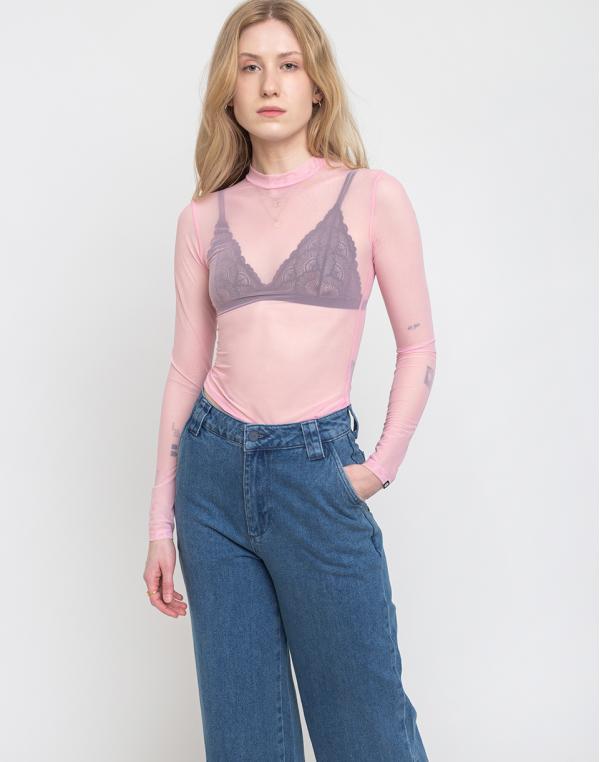 Lazy Oaf Sheer Turtleneck Pink XS