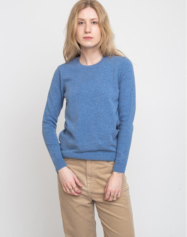 Colorful Standard Women Light Merino Wool Crew Stone Blue XS
