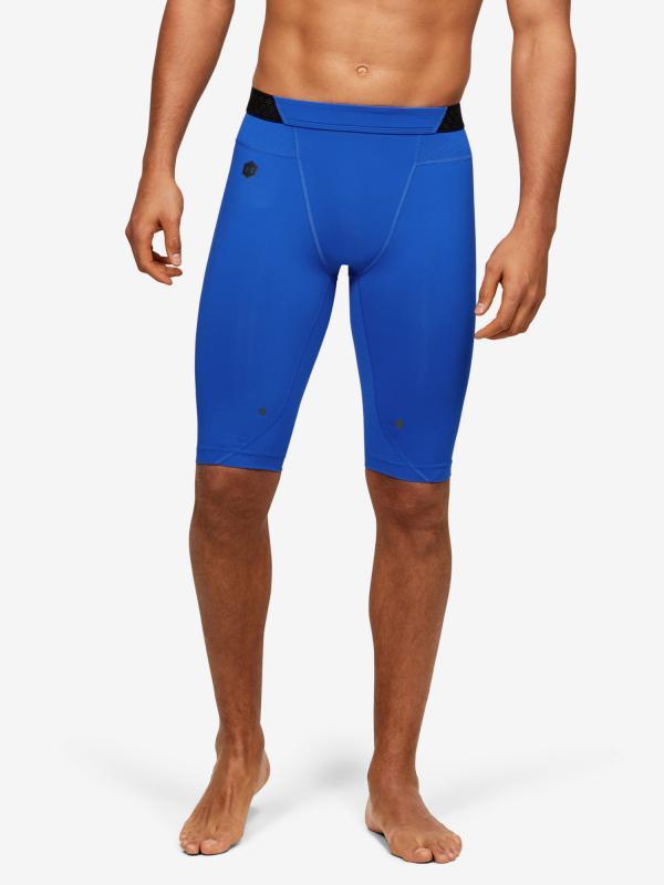 Kompresní šortky Under Armour Rush Hg Long Shorts Modrá