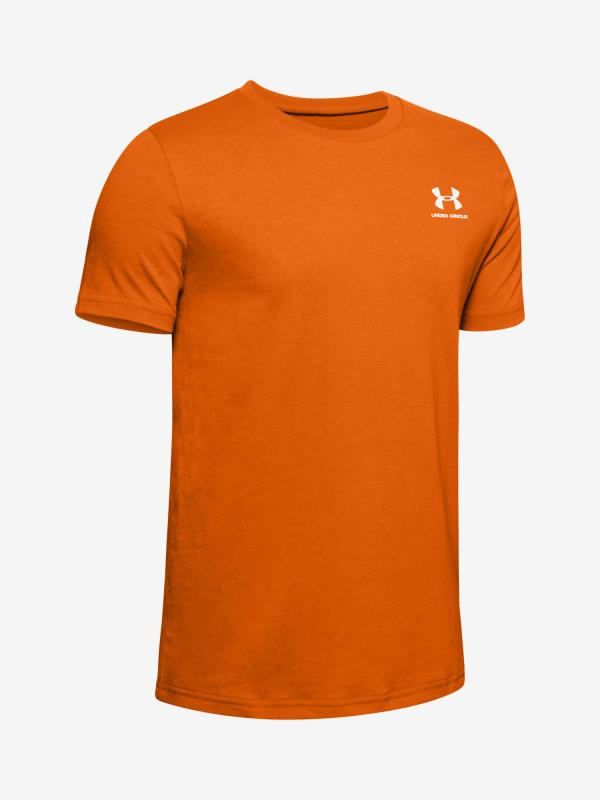 Tričko Under Armour Sportstyle Left Chest Ss Oranžová