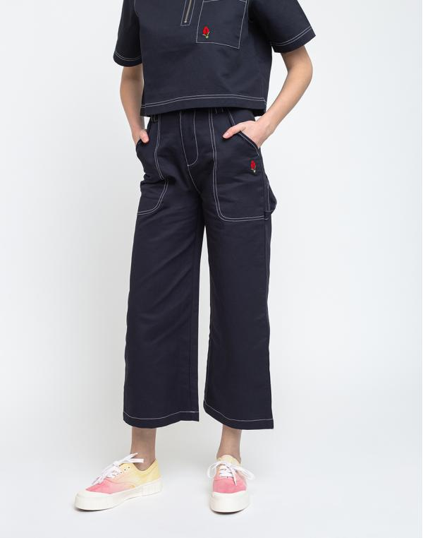Lazy Oaf Picking Roses Work Pants Navy Blue M
