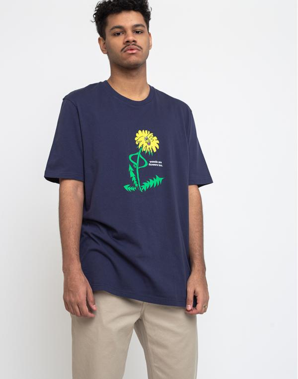 Lazy Oaf Weeds Are Flowers Too T-shirt Navy S