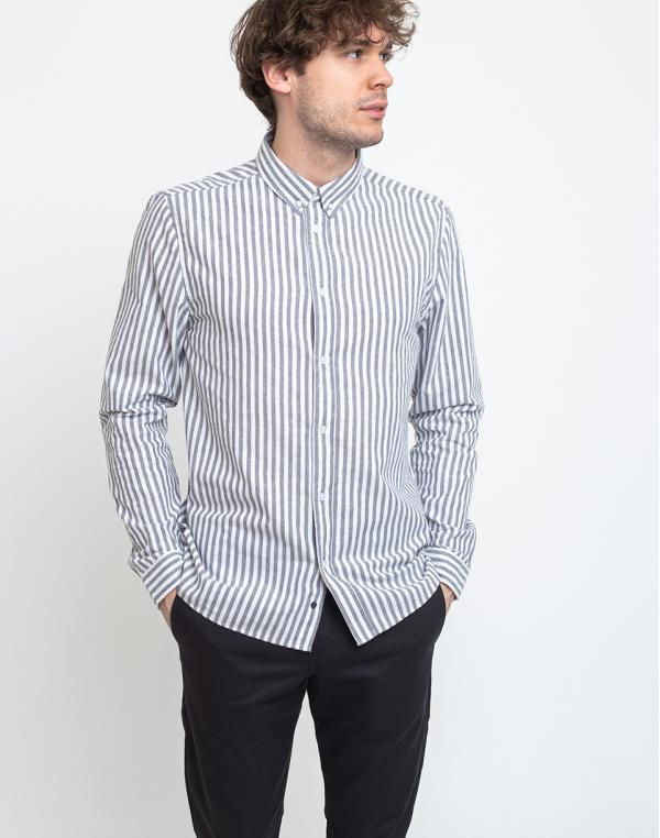 RVLT 3758 Stripe Shirt Grey M