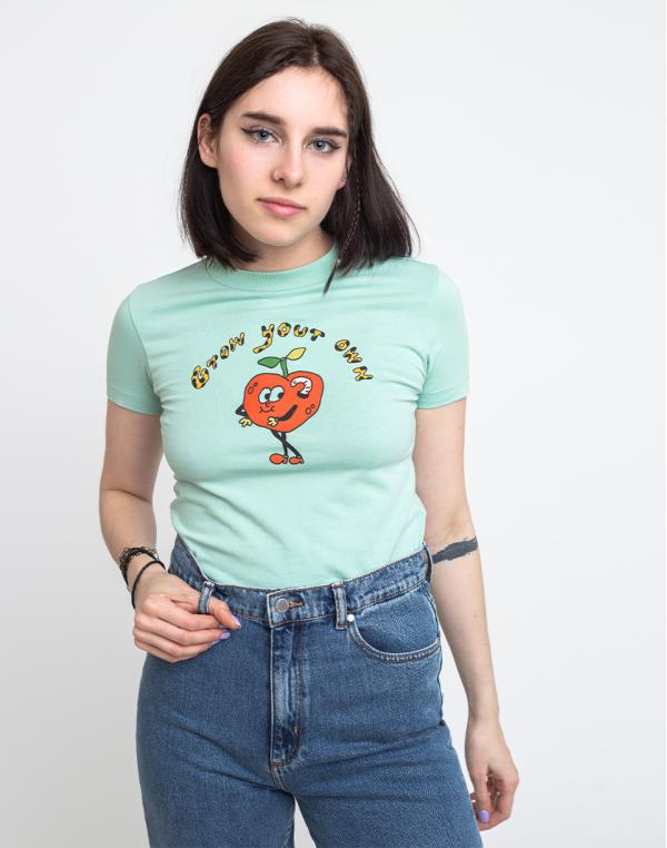 Lazy Oaf Grow Your Own Apple Tee Green L