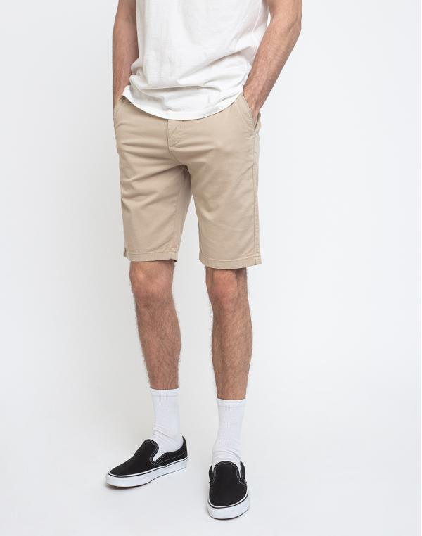 Knowledge Cotton Chuck Regular Chino Shorts 1228 Light Feather Gray 32