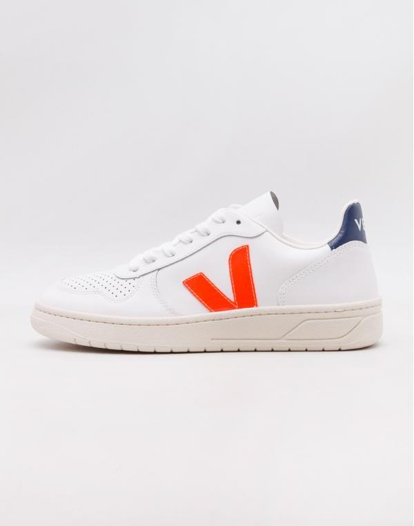 Veja V-10 Extra White Orange Fluo Cobalt 44