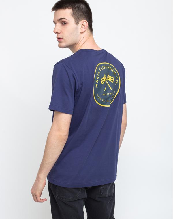 Makia Pursuit T-shirt Blue M
