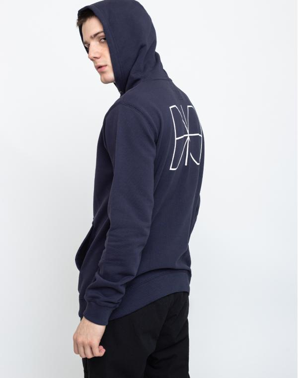 Makia Trim Hooded Sweatshirt Dark Blue M