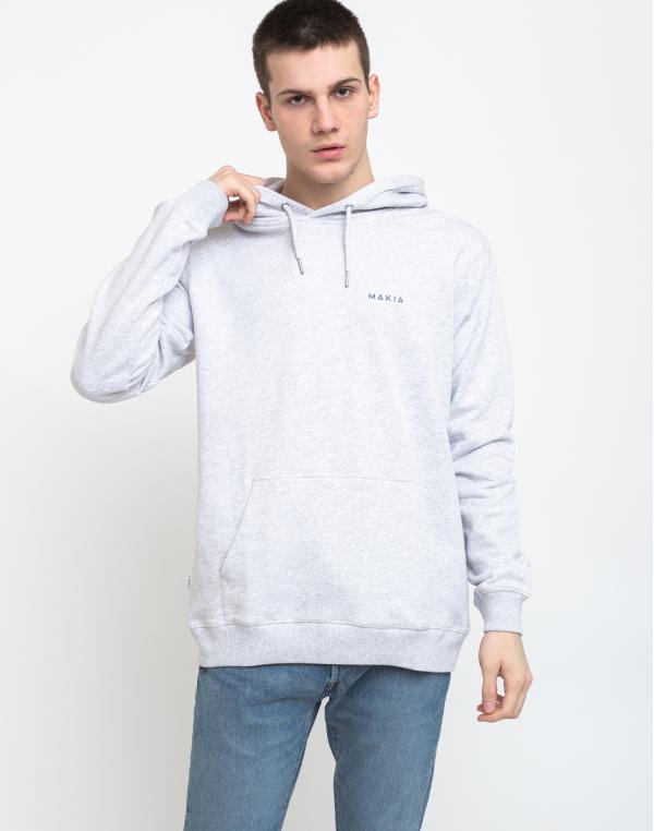 Makia Trim Hooded Sweatshirt Light Grey M