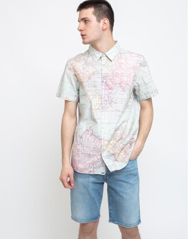 Dedicated Shirt Short Sleeve Sandefjord Map Multi Color S