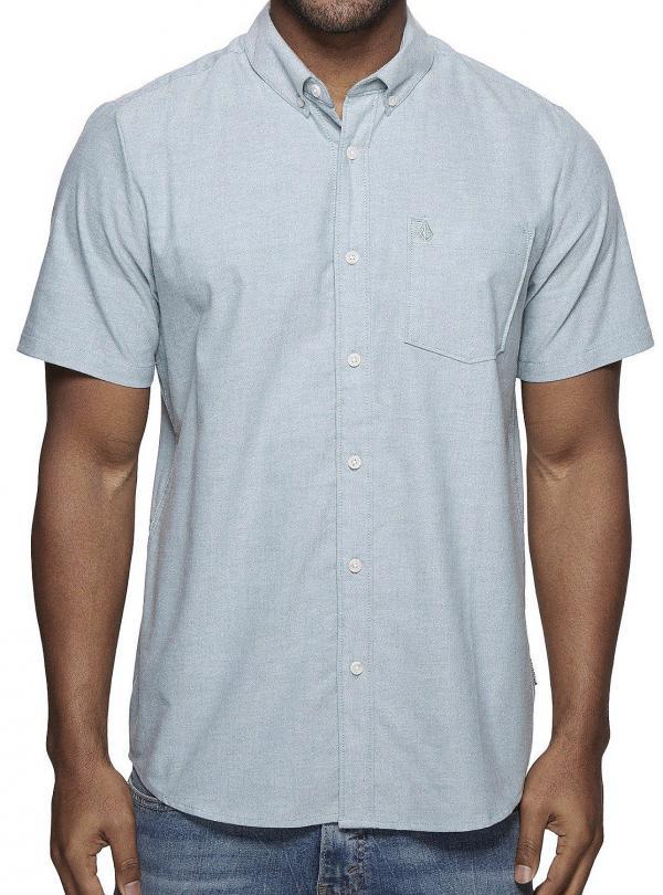 košile Volcom Everett Oxford - Wrecked Indigo L