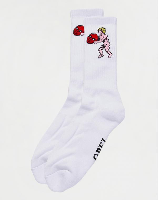 Obey Cupid Socks White