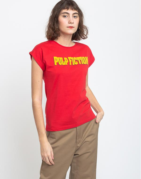 Dedicated T-shirt Visby Pulp Fiction Red XS