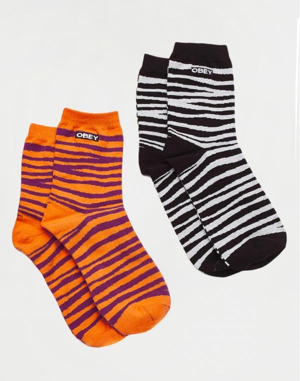 Obey Twinning Socks Black Combo