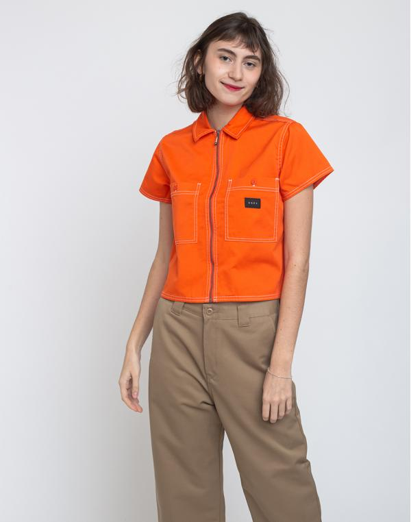 Obey Bailey Work Shirt Flame Orange S