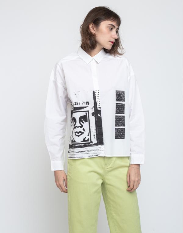 Obey Salon Shirt White M