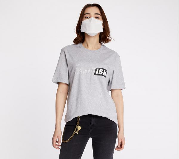 LACOSTE LIVE Lacostism Print Tee Grey