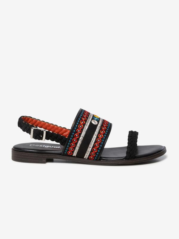 Sandály Desigual Shoes Mumbai New Exotic Černá