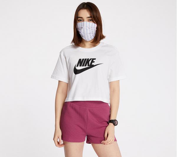 Nike Sportswear Essential Cropped Icon Future Tee White/ Black
