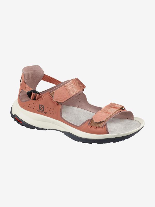 Sandály Salomon Tech Sandal Feel W Cedar Wood/Peppe Hnědá