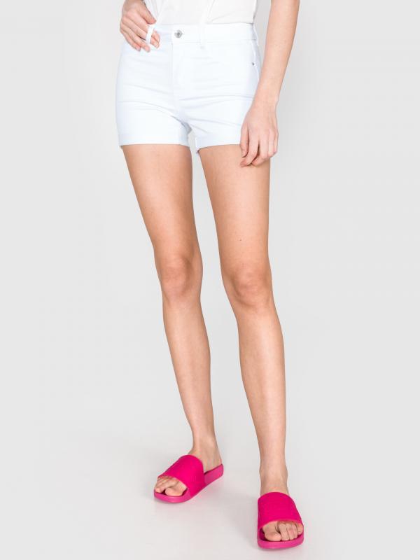 Hot Seven Šortky Vero Moda Bílá