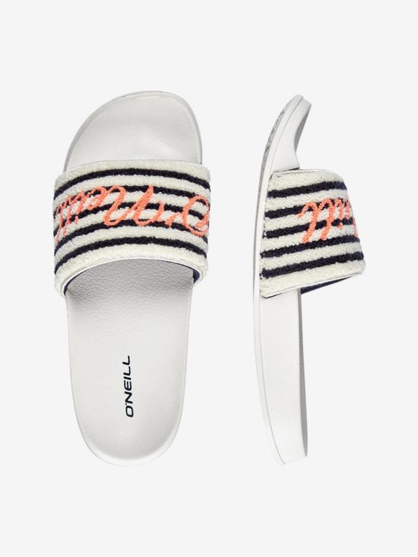 Pantofle O'Neill Fw Slide Terry Sandals Bílá