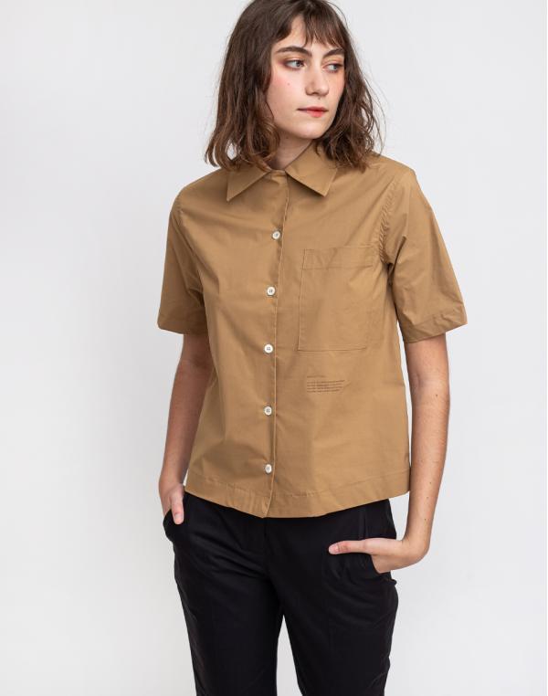 Loreak Shirts Harper Pplin Soft A-camel S