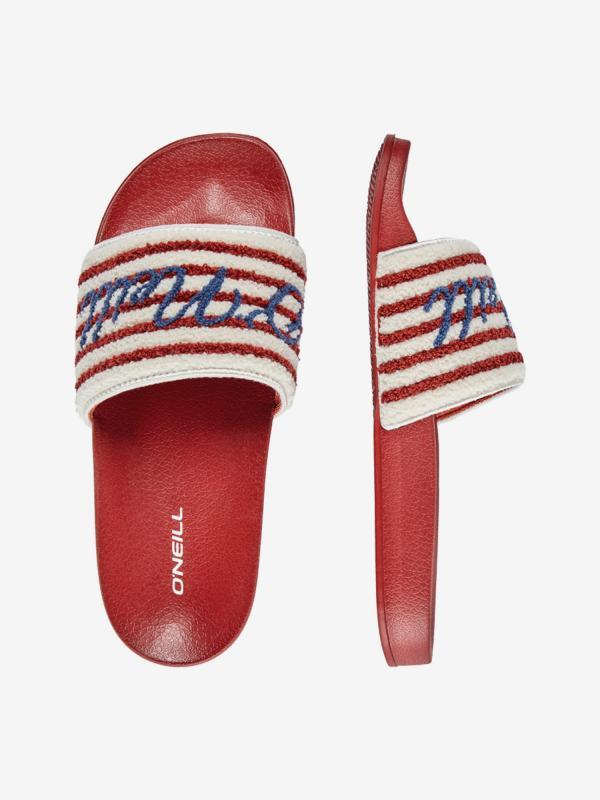Pantofle O'Neill Fw Slide Terry Sandals Červená
