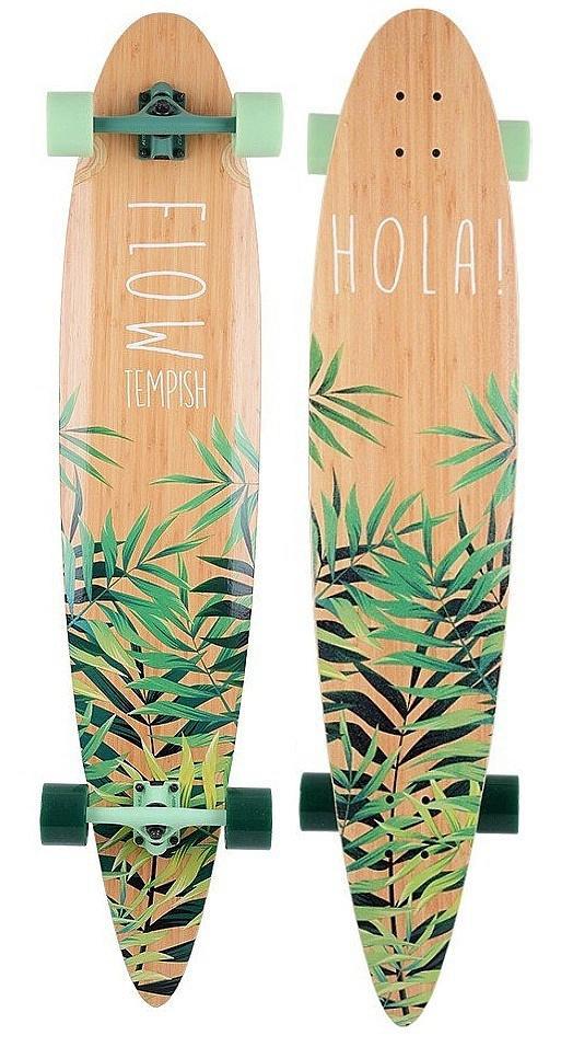 longboard Tempish Flow 46 Bamboo - B/Palm 9.6x46