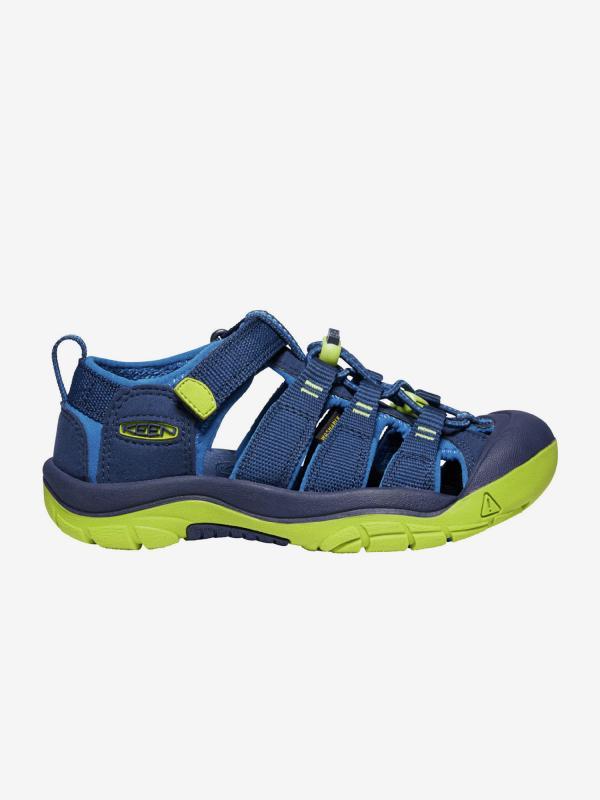 Sandály Keen Newport H2 Jr. Blue Depths/Chartreuse Us Modrá