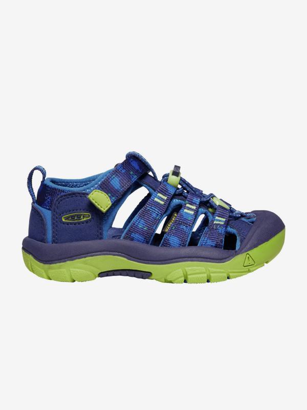 Sandály Keen Newport H2 K Blue Depths/Chartreuse us Modrá