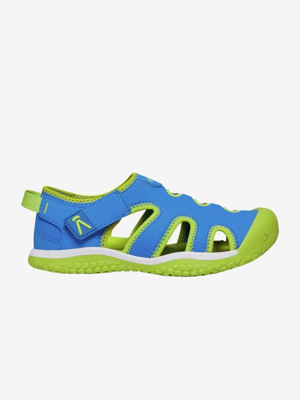 Boty Keen Stingray C Brilliant Blue/Chartreuse us Modrá