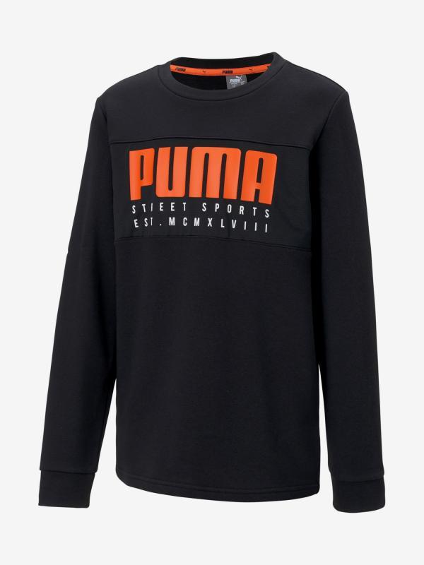 Mikina Puma Alpha Crew Černá
