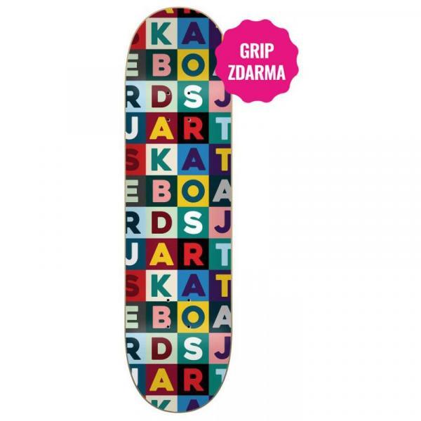 SK8 DESKA JART Scrabble HC - modrá