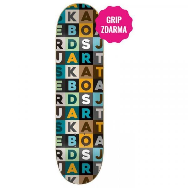 SK8 DESKA JART Scrabble HC - zelená