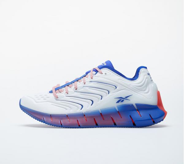 Reebok Zig Kinetica White/ Active Blue/ Radiate Red