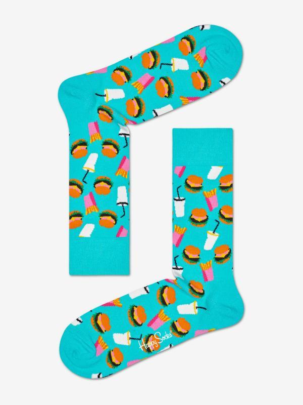 Ponožky Happy Socks Hamburger Sock Barevná