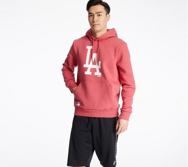 New Era Los Angeles Dodgers Seasonal Team Logo Hoodie Pink