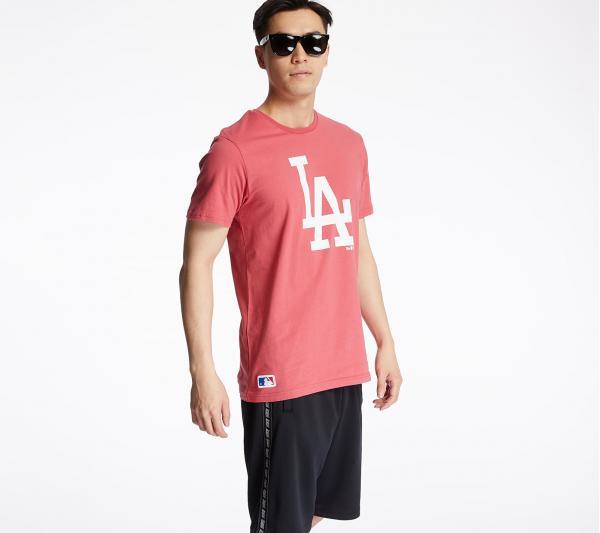 New Era Los Angeles Dodgers Seasonal Team Logo Tee Pink