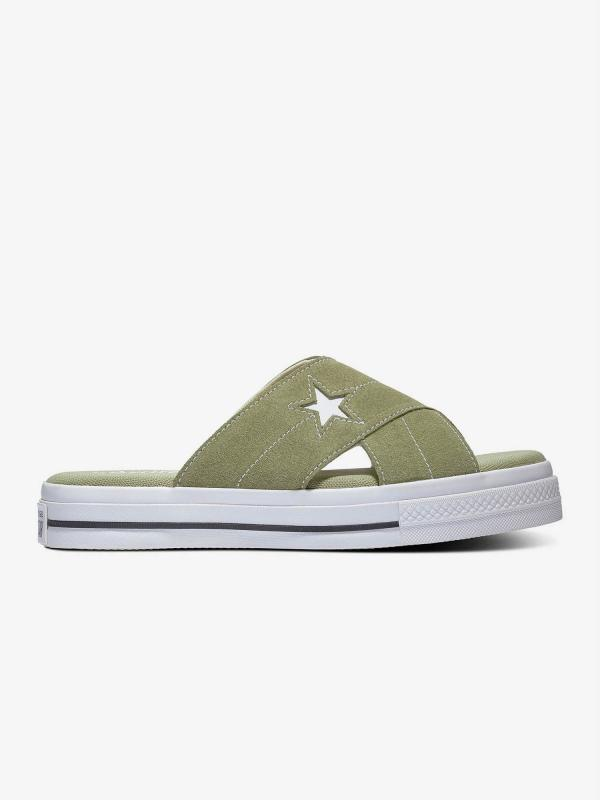 Pantofle Converse One Star Sandal Zelená