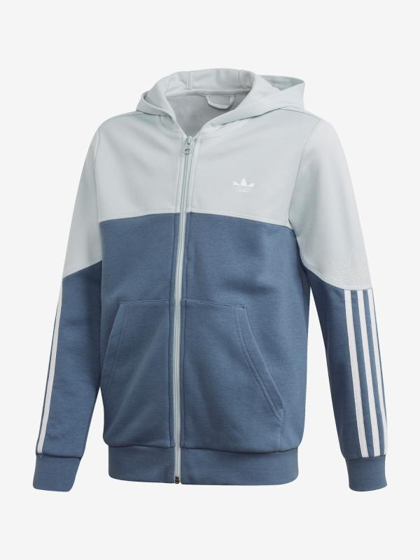Mikina adidas Originals Outline Fz Hood Modrá