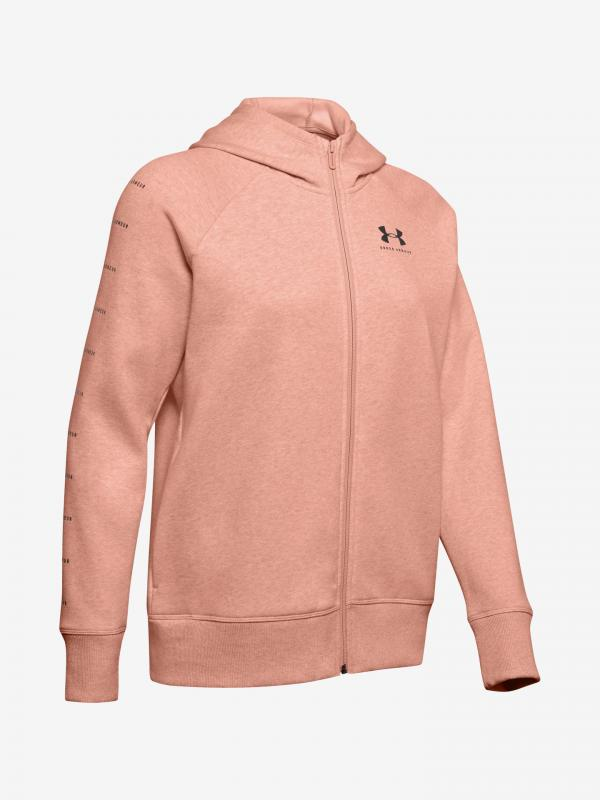 Mikina Under Armour Rival Fleece Sportstyle Lc Sleeve Graphi Béžová
