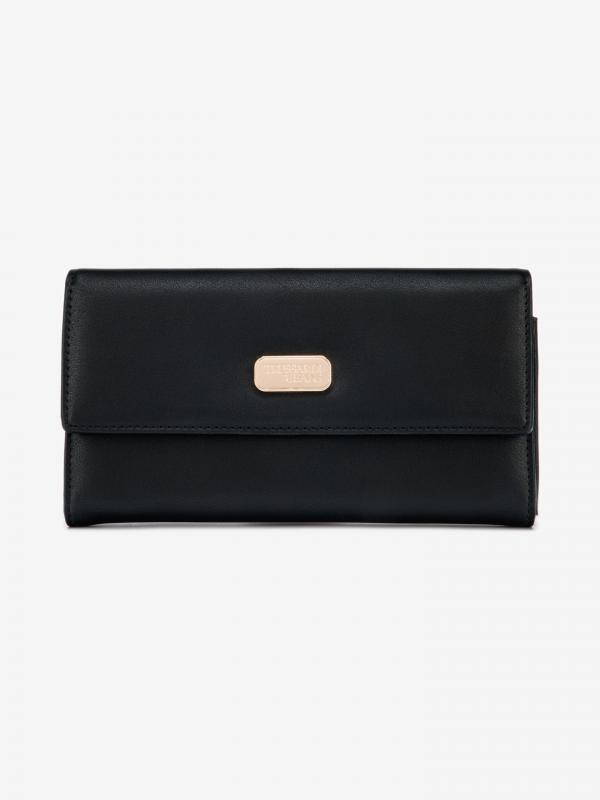 Peněženka Trussardi Mya Continental Lg Smooth Ecoleather Monocolor Černá