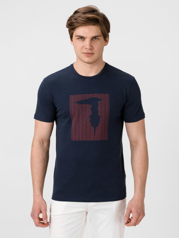 Tričko Trussardi T-Shirt Pure Cotton Regular Fit Modrá