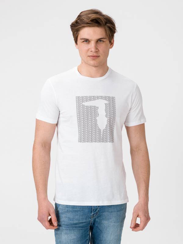 Tričko Trussardi T-Shirt Pure Cotton Regular Fit Bílá