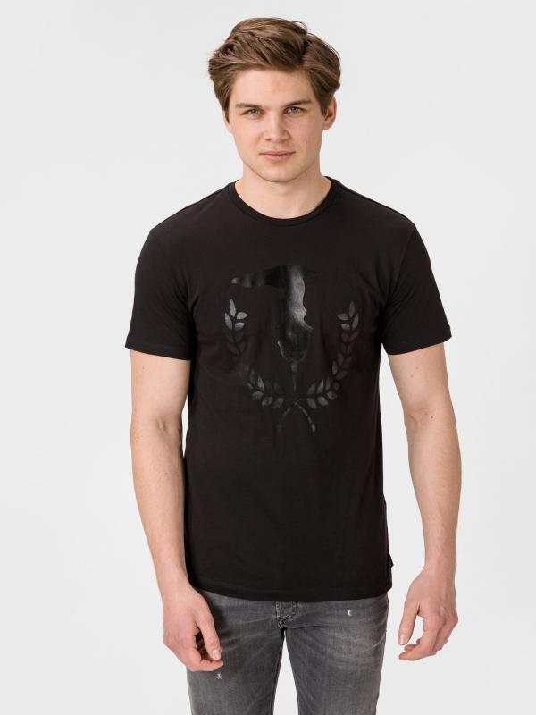 Tričko Trussardi T-Shirt Pure Cotton Regular Fit Černá