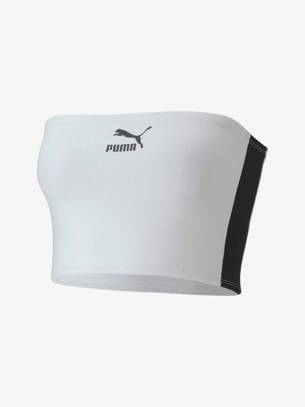 Podprsenka Puma Classics Bandeau Top Bílá