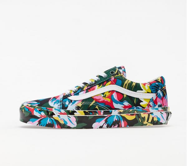 KENZO x Vans Old Skool LX Floral Green/ True White